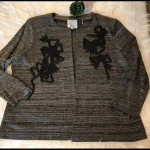 Misook Sz XL Grey Black Jacket